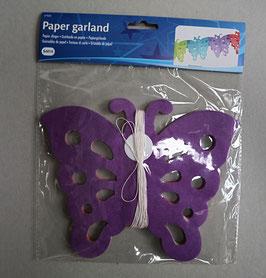 Papier slinger 'Vlinders', 15 cm hoog, 6 meter lang