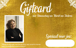 Giftcard voor vocalcoaching vanaf 65,- tot 375,-