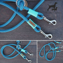 Hundeleine Blau mit Türkis