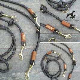 Hundeleine Dunkelbraun mit Rotbraun