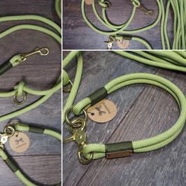 Halsung Frühlingsgrün 8,5mm mit Oliv