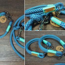 Halsung Blau mit Türkis