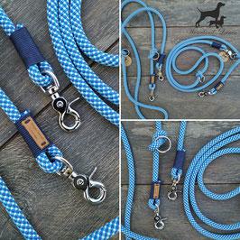 Hundeleine Blau mit Dunkelblau