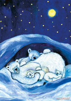 Kinderposter Eisbären groß