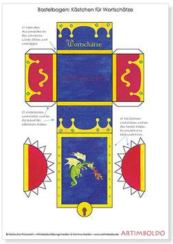 Bastelbogen Wortschatz-Kästchen