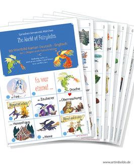 99 Märchenkarten Deutsch-Englisch zum Ausschneiden