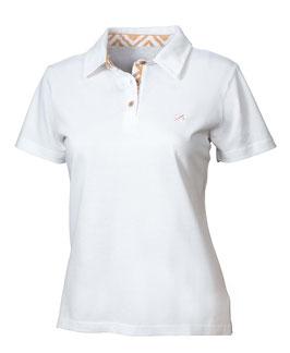 Polo-Hemd Frauen weiß mit Print