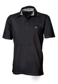 Polo-Hemd Männer schwarz