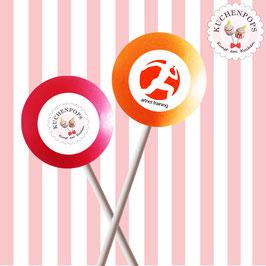 *Kuchenpops mit Logodruck *