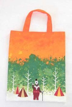 シロクマのキャンプ【ぺたんこバッグ】autumn