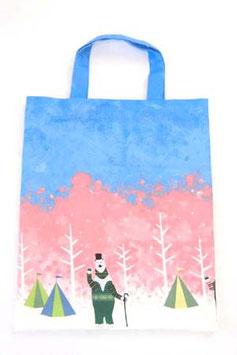 シロクマのキャンプ【ぺたんこバッグ】spring