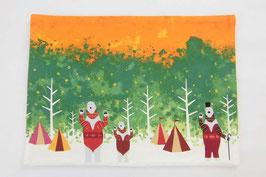 シロクマのキャンプ【ランチョンマット】autumn