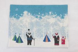 シロクマのキャンプ【ランチョンマット】winter