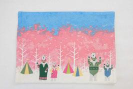 シロクマのキャンプ【ランチョンマット】spring