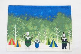 シロクマのキャンプ【ランチョンマット】summer