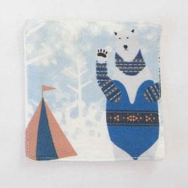 シロクマのキャンプ【コースター】winter