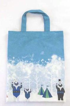 シロクマのキャンプ【ぺたんこバッグ】winter