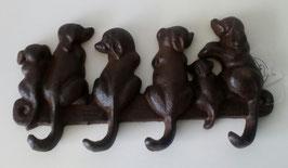 Garderobenhaken Hakenleiste Gusseisen Hunde 20 cm