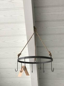 Küchenkrone Kräuterkrone Metall Braun 8 Haken D: 30 cm