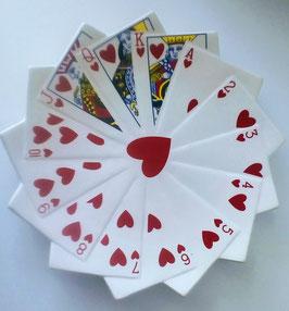 Skat Karten Teller Weiß Rot Herz Blatt Snack