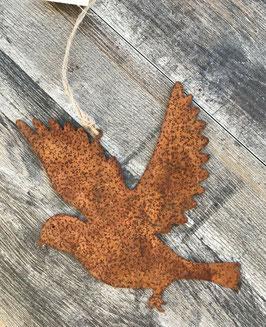 Vogel Fliegend Hängend Rost Garten 20,5 x 17,5 cm