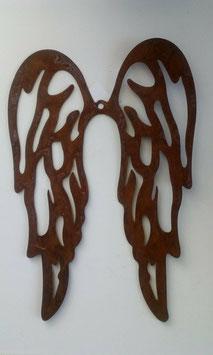 Flügel Engelflügel  Metall Edelrost Style 35 x 24 Weihnachten Garten