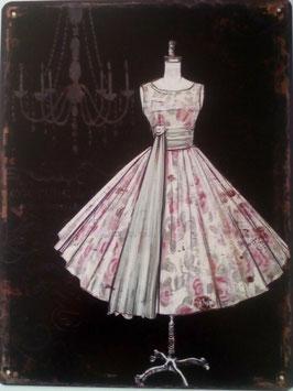 Blechschild Kleid Schneiderpuppe Shabby Chic 33 x 25 cm
