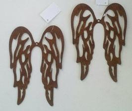 Flügel Engel Set Metall Rost Style 16 x 11