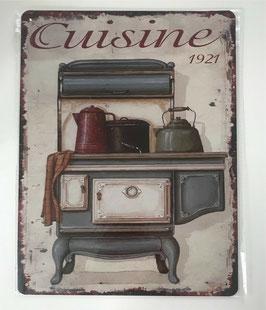 Blechschild Küche Cuisine 1921 33 x 25