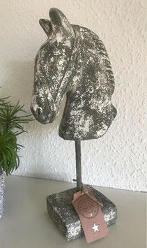Skulptur Büste Beton Pferd Kopf 33 cm