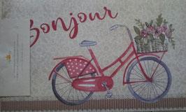 Türmatte Fußmatte Bonjour Fahrrad Beige Clayre & Eef 74 x 44 cm