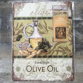 Blechschild Schild Oliven Öl Extra Virgin Italian 25 x 33 cm