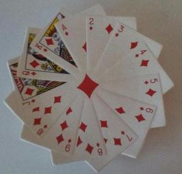 Skat Karten Teller Weiß Rot Karo Blatt Snack