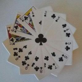 Skat Karten Teller Weiß Schwarz Kreuz Blatt Snack