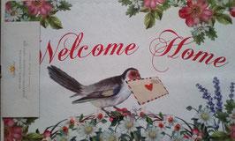 Türmatte Fußmatte Welcome Home Vogel 74 x 44 cm Clayre & Eef