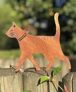 Katze Zaun Ast Rost Schraube 16 x 18 cm