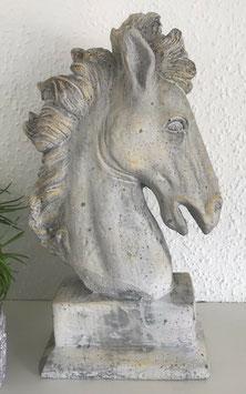 Skulptur Büste Pferd Kopf Beton 38 cm