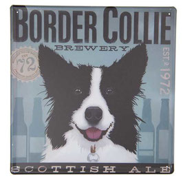 Blechschild Schild Hund Border Collie 30 x 30 Clayre & Eef