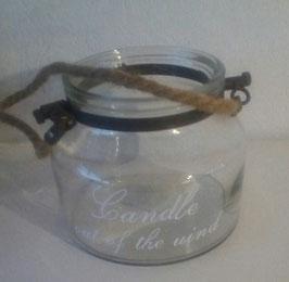 "Windlicht Glas Spruch: Candle out the Wind"" 13 x 15 cm Bela Casa"