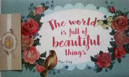 """Türmatte Fußmatte Spruch:""""The world is full of beautiful things""""  Clayre & Eef 74 x 44 cm"""