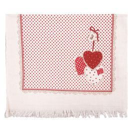 2 Gästehandtücher Herzen Punkte 40 x 60 cm Baumwolle Clayre & Eef