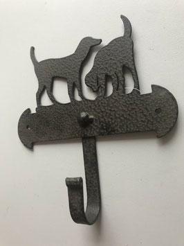 Haken 1er Hunde Braun Metall 14,5 x 16 cm Sommerfield