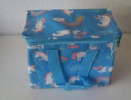 Kühltasche Kühlbox Einhorn Blau Bunt 21 x 15 x 13 cm