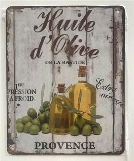 Blechschild Huile d`Olive Provence 20 x 25