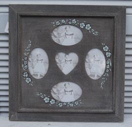 Bilderrahmen Fotorahmen Foto 5 Grau Blau Wand Holz Shabby Landhaus Vintage