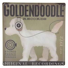 Blechschild Schild Hund Goldendoddle Clayre & Eef 30 x 30