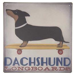 Blechschild Schild Hund Dackel 30 x 30 Clayre & Eef
