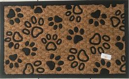 Fußmatte Pfoten Kokos Gummi 75 x 45 x 1 Clayre & Eef