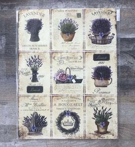 Blechschild Schild Lavendel Carte postale 25 x 33 cm