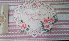 Fußmatte Clayre & Eef Home Sweet Home Herz
